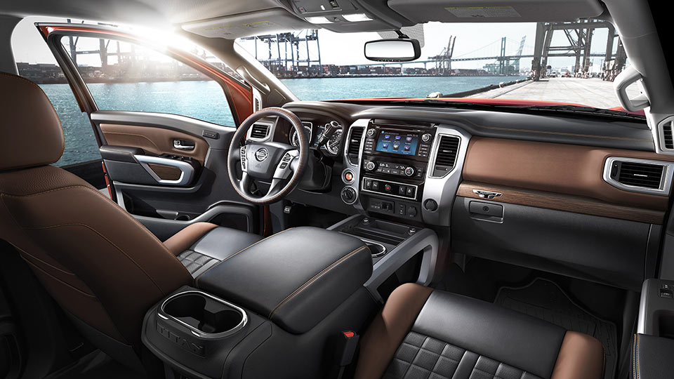 2016-nissan-titan-xd-front-seating-center-console-steering-wheel