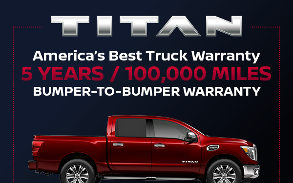 America's Best Truck Warranty - 5 YEARS OR 100,000 MILES - BUMPER TO BUMPER