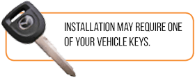 Installation requires one of your keys.
