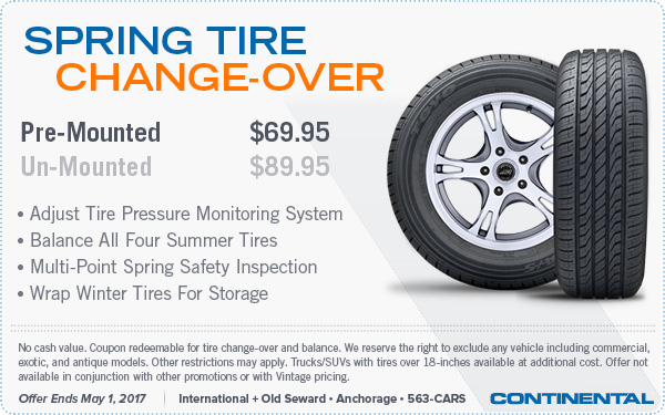 2017 Spring Tire Changeover Special