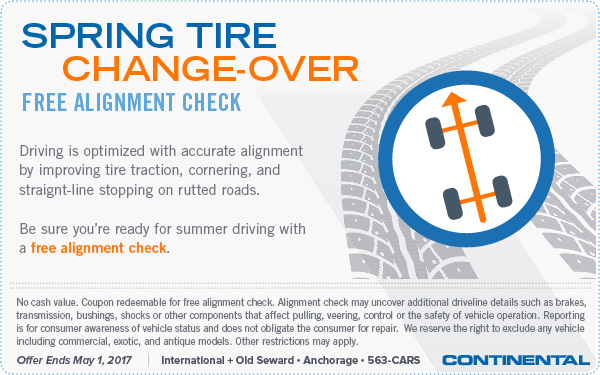 2017 Tire Changeover and Alignment Special