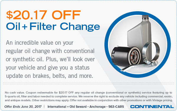 $20.17 Off Oil Filter Change