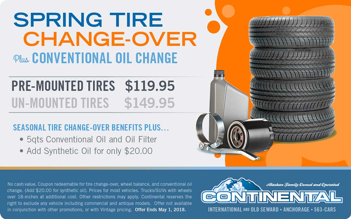 18MAR Spring Tire Change-Over + Oil
