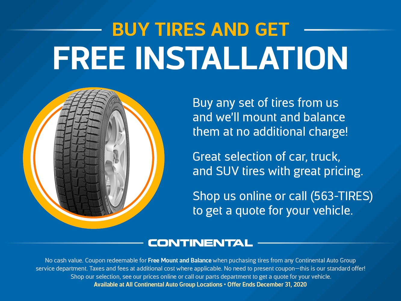 Free Tire Installation